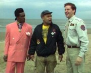 Danny John-Jules, Craig Charles and Chris Barrie in Red Dwarf