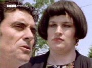 Julie T. Wallace and Ian McShane in 'Lovejoy'