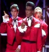 Chris Barrie, Danny John-Jules and Robert Llewellyn in Red dwarf