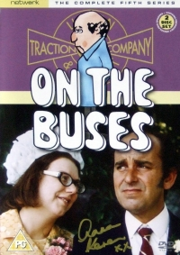 Signed video sleeve for 'On The Buses' Series 5