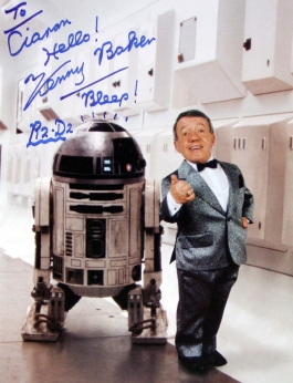 Photograph signed by Kenny Baker