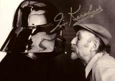 Irvin Kerschner signed photo with Darth Vader (Dave Prowse)