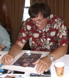 Richard Kiel signing Jeff Marshall lithograph