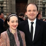 Rory Kinnear with his wife Pandora in 2012