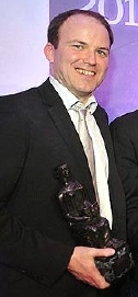 Rory Kinnear with his Evening Standard 'Best Actor' Award for his role as Angelo in 'Measure for Measure' (2010)