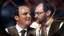 Rory Kinnear as Bedford & Mark Gatiss as Cavor in 'The First Men in the Moon' (2010)