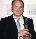 Rory Kinnear with his Olivier Award for his performance as Sir Fopling Flutter in 'The Man of Mode'