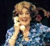 Maggie Kirkpatrick as Peggy Ramsay in 'Peggy For You' (1997)