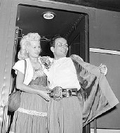 Jake LaMotta and wife Vicky after he had won the World Middleweight title