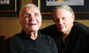 Jake LaMotta with actor William Forsythe who plays him in 'The Bronx Bull' (2012)