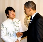 Lang Lang meeting President Barack Obama at the Nobel Peace Prize award ceremony in Oslo in 2009