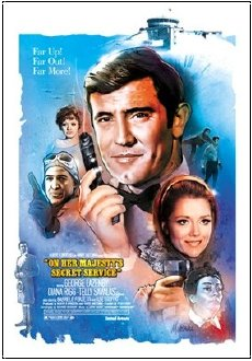 Jeff Marshall lithograph of 'On Her Majesty's Secret Service'