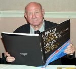 Alexei Leonov with his book 'Earth & Space Painting'