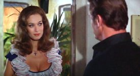 Valerie Leon and Roger Moore in The Spy Who Loved Me