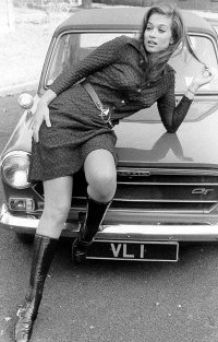 Valerie Leon with her VL 1 car