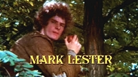 Mark Lester in the opening credit for 'Crossed Swords'