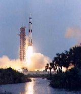 Apollo 13 lifts off from the Kennedy Space Centre