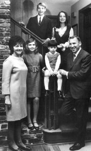Jim & Marilyn Lovell and their four children in 1968