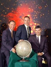 Apollo 13 astronauts Jim Lovell, Jack Swigert and Fred Haise