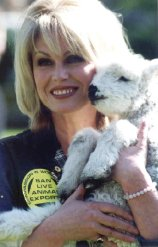 Joanna Lumley is a passionate campaigner for animal rights