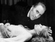 Christopher Lee and Joanna Lumley in 'The Satanic Rites of Dracula'