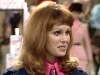 Joanna Lumley as The german girl in 'Are You Being Served'