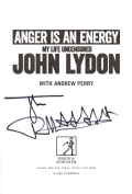 John Lydon autographed book