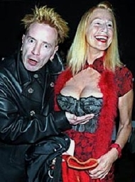John Lydon with his wife Nora Forster