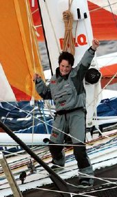 Ellen MacArthur on the trimaran B&Q/Castorama