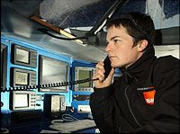 Ellen MacArthur's satellite phone on B&Q/Castorama