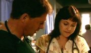 Simon MacCorkindale & Elizabeth Carling in 'Casualty'