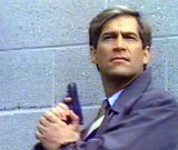 Simon MacCorkindale as Peter Sinclair in 'Counterstrike' (1990-93)