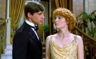 Simon MacCorkindale with Mia Farrow in Agatha Christie's 'Death on the Nile'
