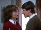Simon MacCorkindale & Kathryn Leigh Scott in 'Visitor from the Grave' (1980)