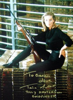 Tania Mallet signed photograph