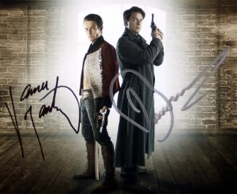 Signed photo of John Barrowman and James Marsters in 'Torchwood'