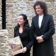 Brian May & Elena Vidal at the launch of 'A Village Lost and Found'