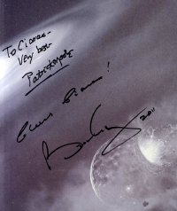 'Bang!' signed by Sir Patrick Moore & Brian May
