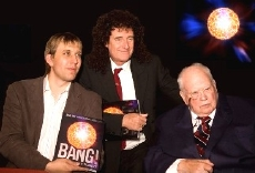 Chris Lintott, Brian May & Sir Patrick Moore, co-authors of 'Bang!'
