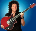 Brian May with his original Red Special guitar