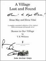 Title page of 'A Village Lost and Found' signed by Brian May