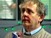 Sylvester McCoy as Kev the Rev in 'Casualty'