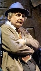 Sylvester McCoy as Mr Mushnik in 'Little Shop of Horrors'