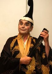 Sylvester McCoy in the title role of Gilbert & Sullivan's 'The Mikado'