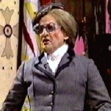 Sylvester McCoy as Aunt Grizelda in 'See It Saw It'