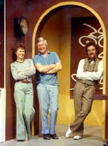 Pat Keysell, Tony Hart & Sylvester McCoy in 'Vision On'