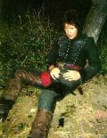 Paul McGann filming 'Sharpe's Rifles' before his injury forced him to leave the series