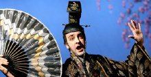 Alistair McGowan in the title role of 'The Mikado' by Gilbert & Sullivan