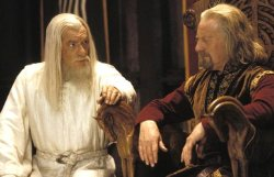 Ian McKellen & Bernard Hill in 'The Lord of the Rings: The Two Towers' (2002)