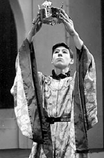 Ian McKellen as Prince Hal in a school production of Shakespeare's Henry IV Part 2 (1956)